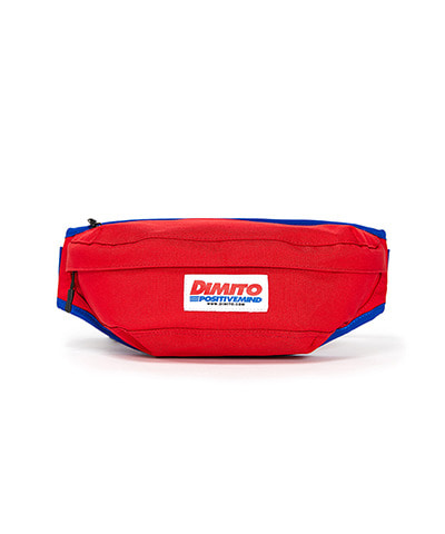 LOGO TAPE WAIST BAG RED