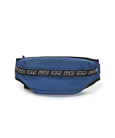 LOGO TAPE WAIST BAG NAVY